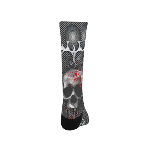 Awesome skull on metal design Trouser Socks
