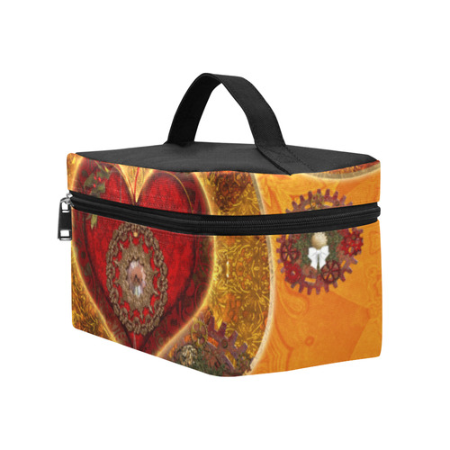 Steampunk decorative heart Lunch Bag/Large (Model 1658)