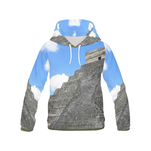 Chichen Itza Maya Temple All Over Print Hoodie for Women (USA Size) (Model H13)