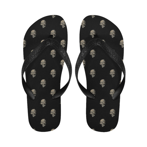 sparkling skulls by JamColors Flip Flops for Men/Women (Model 040)