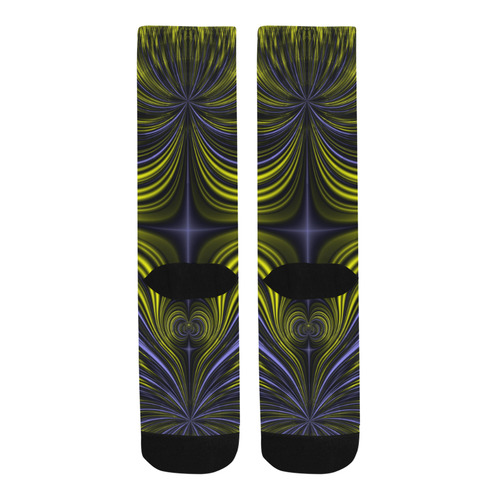 Northern Lights Aurora Borealis Fractal Abstract Trouser Socks