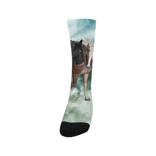 The wonderful couple horses Trouser Socks