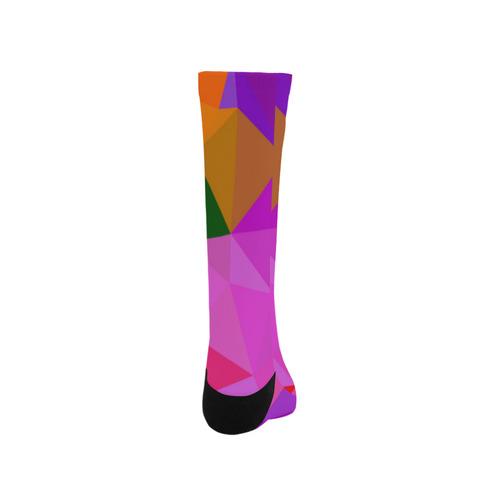 Artistic knee Socks : purple triangles II Trouser Socks
