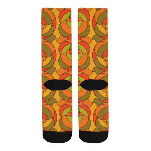 Retro Pattern 1973 H by JamColors Trouser Socks