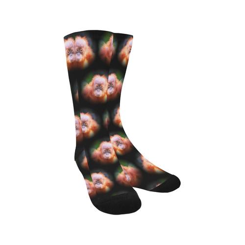 cute animal drops- Baby Orang by JamColors Trouser Socks