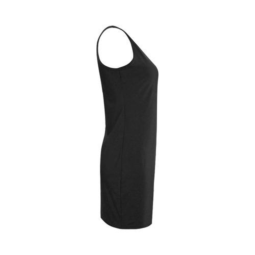 Solid Black Medea Vest Dress (Model D06)