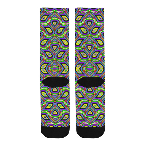 Lilacs and Sunshine Reflections Fractal Abstract Trouser Socks