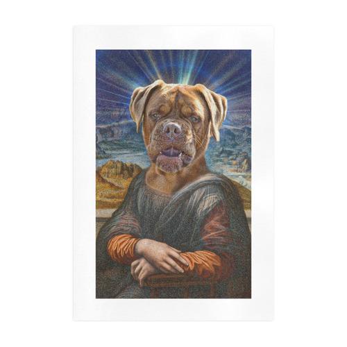 Funny Art BULLDOG MONA LISA Art Print 19''x28''