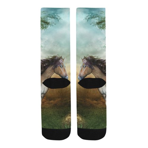 Wonderful running horse Trouser Socks