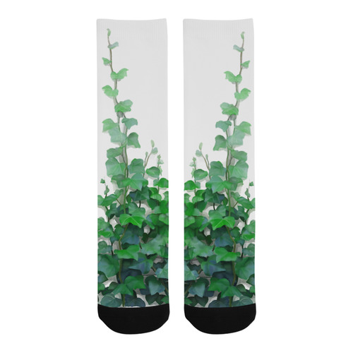 Watercolor Ivy - Vines, plant watercolor Trouser Socks