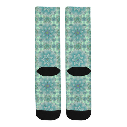 Turquoise Happiness, Lotus pattern Trouser Socks