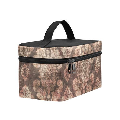 Grunge Gold Distressed Linen Steampunk Print Lunch Bag/Large (Model 1658)