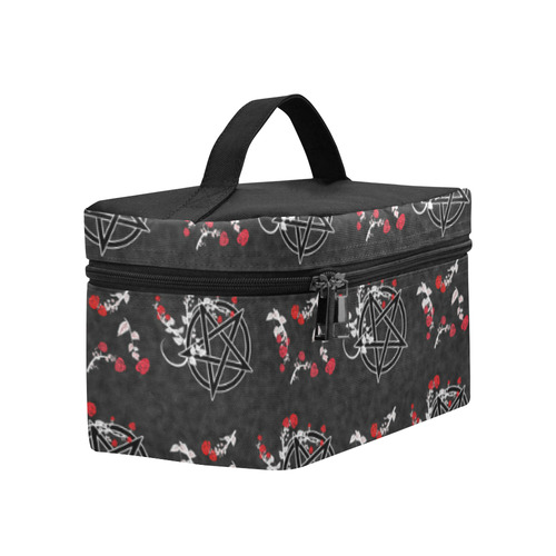 Red Roses Pentacles Pagan Goth Art Print Lunch Bag/Large (Model 1658)