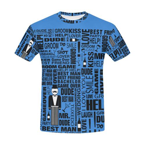 29a2f5ee Groom Wedding Shirt Fun Print Shirt by Juleez All Over Print T-Shirt for  Men (USA Size) (Model T40) | ID: D1487740