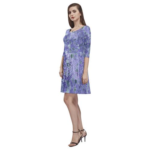 trendy abstract mix B by FeelGood Tethys Half-Sleeve Skater Dress(Model D20)