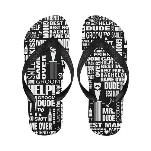d083158cbe62c GROOM Flip Flops Gift Wedding Flip Flops by Juleez Flip Flops for Men Women  (Model 040)