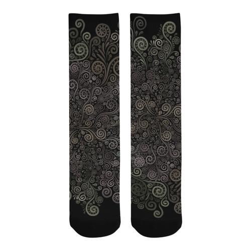 3D Psychedelic soft color Rose Trouser Socks