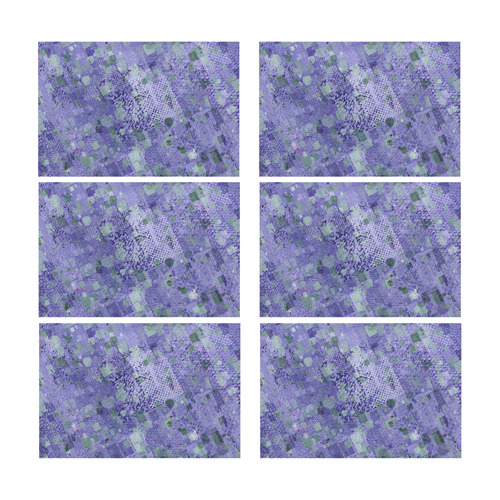 trendy abstract mix B by FeelGood Placemat 12'' x 18'' (Six Pieces)