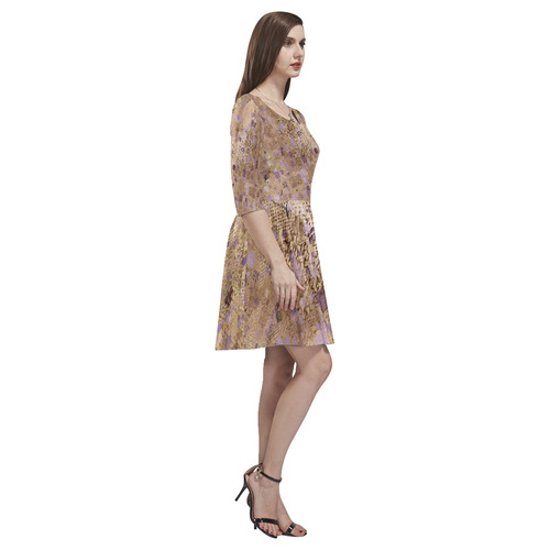 trendy abstract mix C by FeelGood Tethys Half-Sleeve Skater Dress(Model D20)