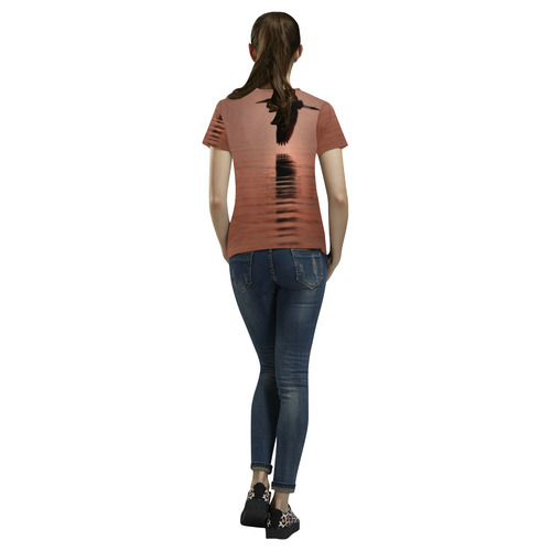 COPPER BIRD All Over Print T-Shirt for Women (USA Size) (Model T40)