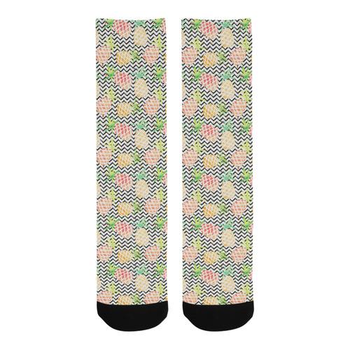 watercolor pineapple Trouser Socks