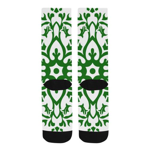 DESIGNERS SOCKS : GREEN MANDALAS Trouser Socks
