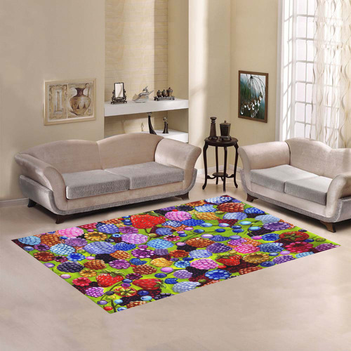 All Kinds Of Berries rug Area Rug7'x5'