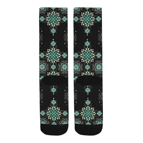 Green on black - seamless pattern with atmosphere Trouser Socks