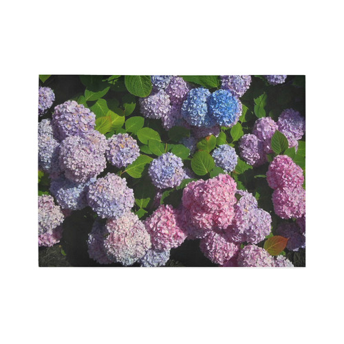 Hydrangeas photo floral Rug Area Rug7'x5'