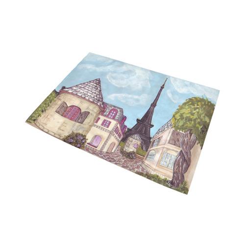 Paris Eiffel Tower Inspired CityScape Landscape rug Area Rug7'x5'