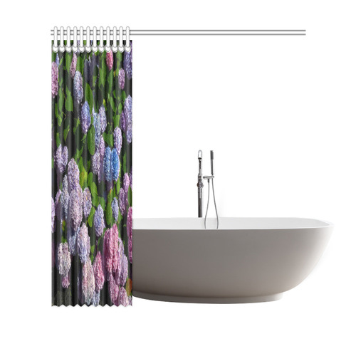 "Hydrangeas shower curtain Shower Curtain 69""x70"""