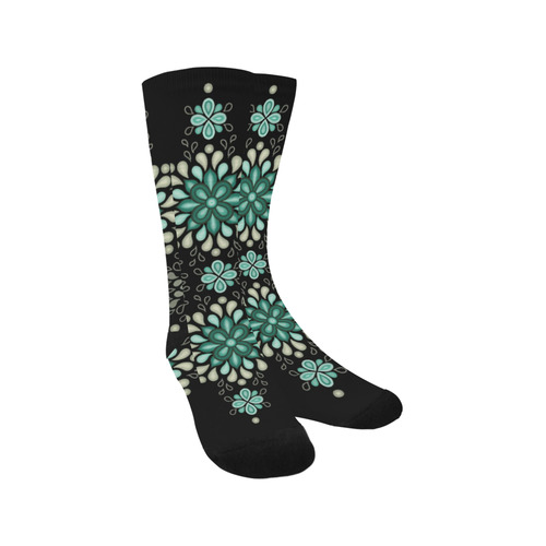 Green on black, seamless pattern with atmosphere Trouser Socks