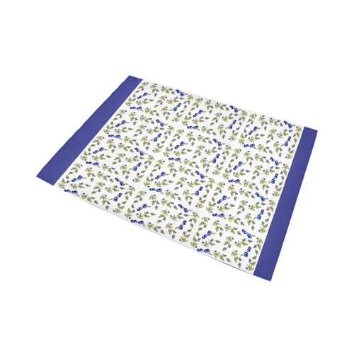 Blueberries On Vine Pattern rug Area Rug7'x5'
