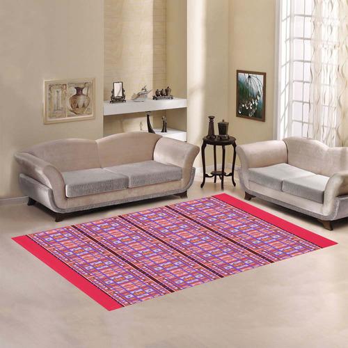 Curvy Plaid Pattern rug Area Rug7'x5'
