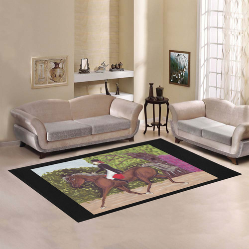 Dressage Horse English Riding rug Area Rug7'x5'
