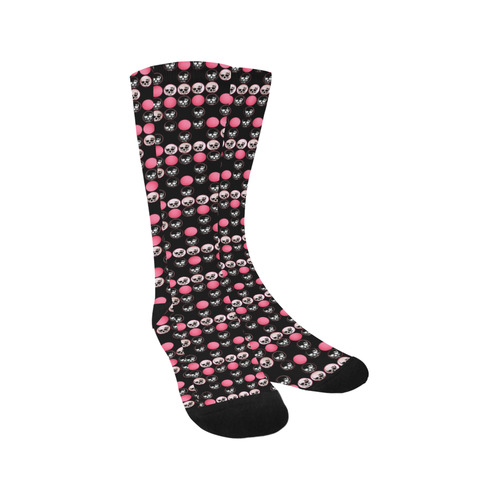 Pastel Goth Skull Polka Dots Trouser Socks