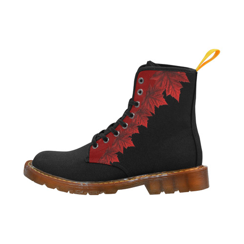Canada Maple Leaf Boots Black Martin Boots For Women Model 1203H