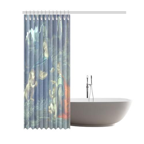 """Leonardo da Vinci Virgin of the Rocks Shower Curtain 69""""x84"""""""