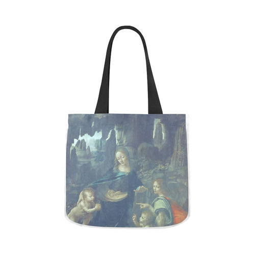 Leonardo da Vinci Virgin of the Rocks Canvas Tote Bag 02 Model 1603 (Two sides)