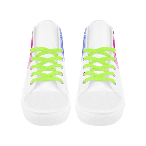 FROTHYnTWITCHY Aquila High Top Microfiber Leather Women's Shoes (Model 032)