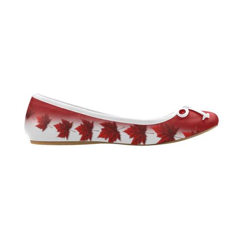 Canada Slipper Shoes Red Maple Leaf Shoes Juno Ballet Pumps (Model 312)