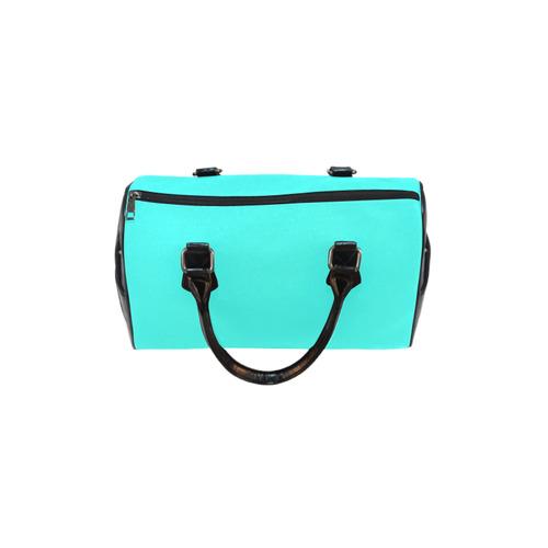 Solid Teal Turquoise Boston Handbag (Model 1621)