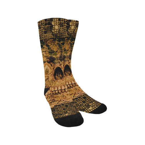 Stone and Metal Skull C by JamColors Trouser Socks