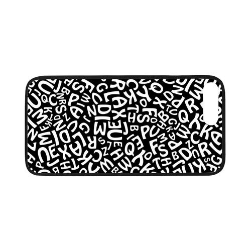 """Alphabet Black and White Letters Rubber Case for iPhone 7 plus (5.5"""")"""