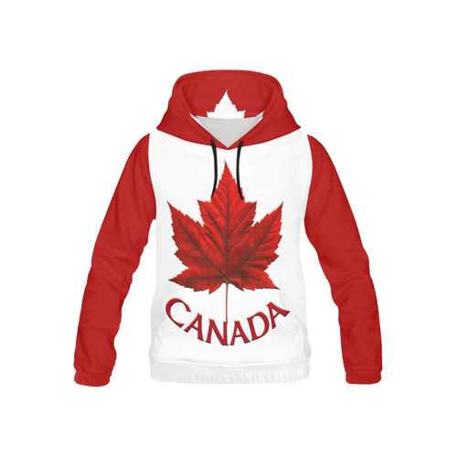 Canada Kid's Hoodies Organic Classic Canada Hoode All Over Print Hoodie for Kid (USA Size) (Model H13)