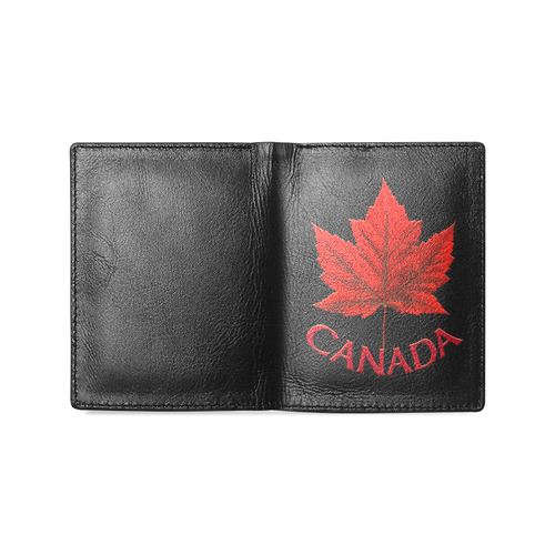 Canada Souvenir Wallets Leather Canada Wallet Men's Leather Wallet (Model 1612)