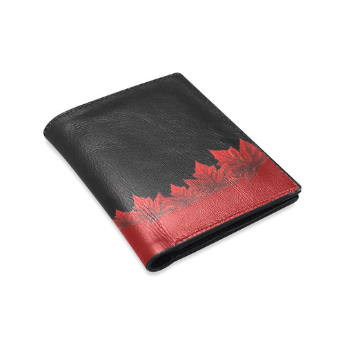 Canada Maple Leaf Wallets Leather Men's Leather Wallet (Model 1612)