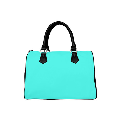 Solid Teal Turquoise Boston Handbag (Model 1621)