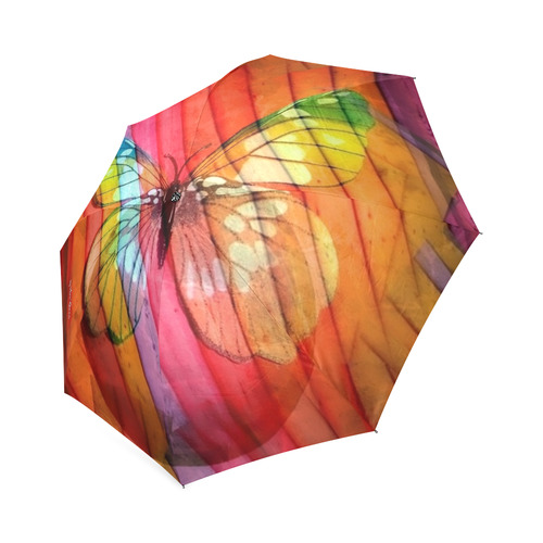 Butterfly by Nico Bielow Foldable Umbrella (Model U01)