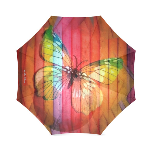 Butterfly by Nico Bielow Foldable Umbrella